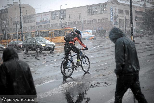 Плохая погода велокурьер